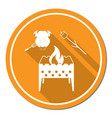 brazier zephyr and chicken icon vector image vector image