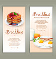 Breakfast 2 vertical banners set vector image vector image