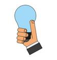 bulb power flat vector image vector image