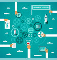 business startup infographic concept in flat style vector image