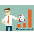 Businessman and development productivity vector image vector image