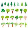 cartoon tree simple flat forest flora coniferous vector image