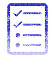 checklist page grunge textured icon vector image
