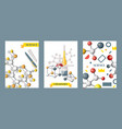 chemistry supplies set cards posters vector image vector image