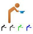 child beggar flat gradient icon vector image