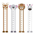 children meter wall animals vector image vector image