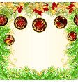 christmas and new year frame christmas tree vector image vector image