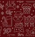 christmas new year symbol seamless pattern vector image