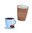 coffee coffee cups vector image vector image