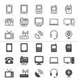 Communication device icons thin vector image