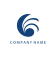 Concept logo template with abstract wave symbol in vector image vector image