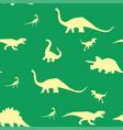 dinosaur silhouette pattern seamless vector image