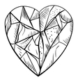 doodle style diamond vector image