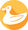Duck Icon vector image vector image
