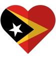 East Timor flat heart flag vector image vector image