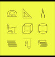 education linear icon set simple outline icons vector image
