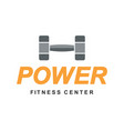 fitness power gym logo sign vector image