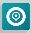 flat map pin icon vector image vector image