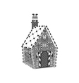 Gingerbread House icon vector image vector image