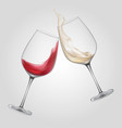 glass alcohol wine cheers beverage party bar booze vector image