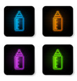 glowing neon babottle icon isolated on white vector image vector image