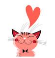 graphics in love cat vector image vector image