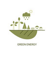 green energy concept green energy concept vector image vector image
