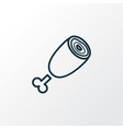 ham icon line symbol premium quality isolated vector image vector image