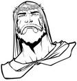 jesus portrait 3 line art vector image vector image