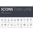 Jewelry Thin Line Icons vector image vector image