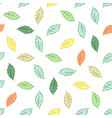 leaf seamless pattern fashion graphic background vector image vector image