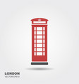 london telephone booth isolated on white vector image vector image
