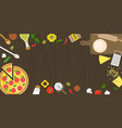 making pizza poster with fresh ingredients vector image vector image
