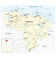 map bolivarian republic venezuela vector image vector image