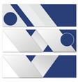 modern banner design vector image