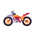 motorized bicycle orange scooter motorbike vector image vector image
