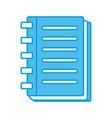 note book open vector image vector image