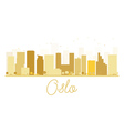 Oslo City skyline golden silhouette vector image vector image