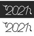ox symbol 2021 chinese new year logo minimal vector image