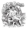 polyphemus vintage vector image