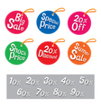 Sale tags set vector image