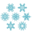 set of snowflakes1 vector image vector image