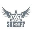 sheriff logo vintage style vector image