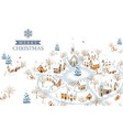 small european city in winter vector image vector image
