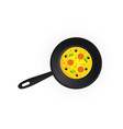 Tasty Pizza on Dripping Pan vector image