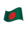 the flag of bangladesh vector image