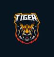 tiger esport gaming mascot logo template for vector image vector image