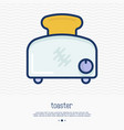 toaster thin line icon simple vector image