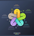 unusual infographic design layout 5 colorful vector image vector image