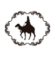 wise man camel holy family christmas design vector image vector image